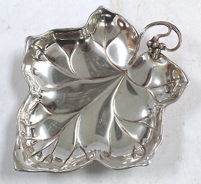 WMF - EP Brass Germany, Silver Plated GRAPE LEAF Decorative BOWL/DISH - W47