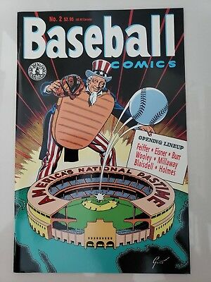 Baseball Comics #2 (1992) Kitchen Sink Comix Will Eisner! Ray Gotto Cover Art Nm