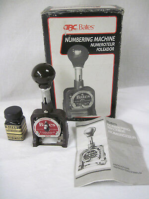 Bates Multiple Movement Numbering Machine, 6 Wheels Style G, 9820317 Re-Inkable