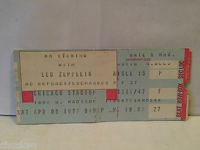 Led Zeppelin April 9,1977 Concert Ticket Stub