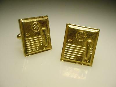 Figural Gold Tone Vintage Federal Radio Advertising Cufflinks Pretty Cool Links