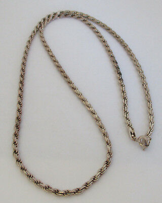 Vintage Sterling Silver Necklace HCT 925 Italy 21g