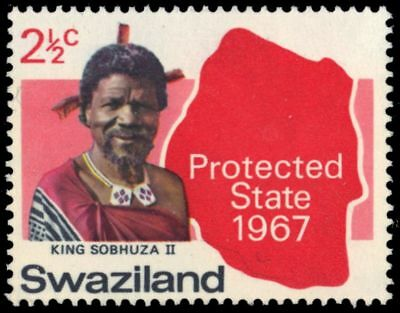 "SWAZILAND 126 (SG124) - Self-Government ""King Sobhuza II and Map"" (pa93600)"