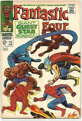 FANTASTIC FOUR # 73   Beautiful Early Silver Age Nice VF8.0