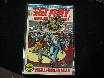 1972 Sgt. Fury and his Howling Commandos Issue 100 Signed by Dick Ayers