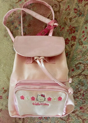957e1557d055 Vintage 1998 HELLO KITTY SANRIO SMILES Pink Back Pack Purse Bag Very Rare