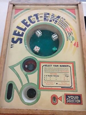 Antique 1934 Exhibit Supply Co. - Select EM Dice Coin Operated Trade Stimulator