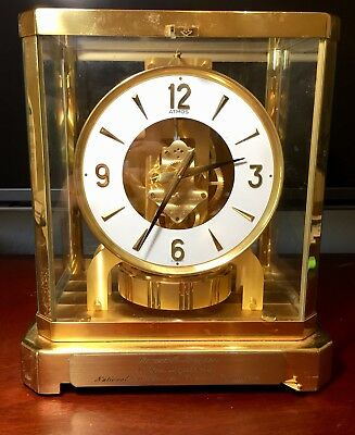 Jaeger LeCoultre Atmos Perpetual Motion Mantle Clock Swiss Not Running