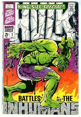 Incredible Hulk Annual #1 (1968) VG New Marvel Silver Bronze Collection