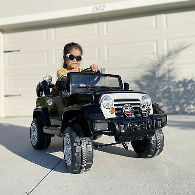 12V Kids Ride On Car Truck Remote Control Electric Jeep Toys MP3 Music Led Light