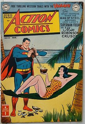 Action Comics #154 comic book  (National Comics Publications Inc. March 1951)