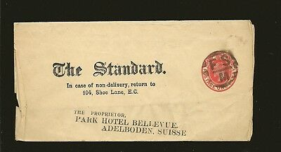 Great Britain The Standard King Edward VII Newspaper Wrapper Used
