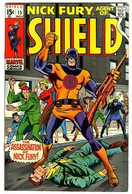 Nick Fury Agent of Shield #15 (1969) VF- New Marvel Silver Bronze Collection