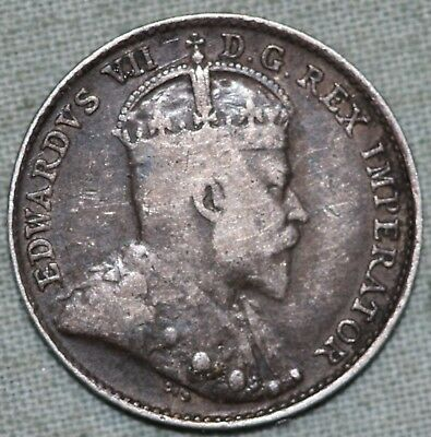 1904 Canada Silver 5 Cent Coin~ Combined S. & H.