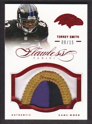 2014 Panini Flawless Parches Rubí #65 Torrey Smith con 08/15 Baltimore Ravens