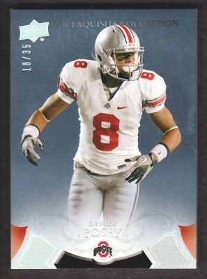 2011 Exquisite Collection Schizzi Picks Silver # Er-Dp Devier Posey 18/35 Ohio