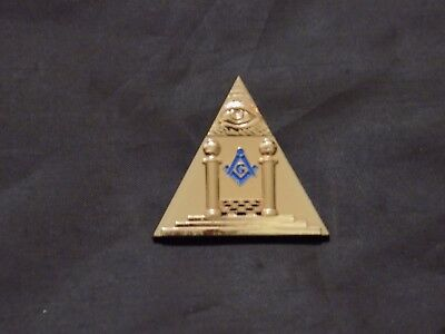 Masonic Altar Pillars All Seeing Eye Lapel Tac Pin Masonic Freemason NEW!