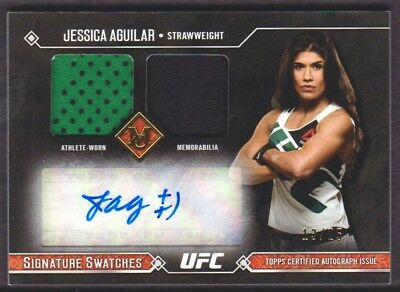 2017 Topps UFC Museum Collection Marchio Swatches Jessica Aguilar Auto 13/25
