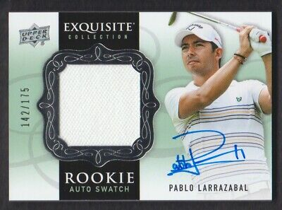 2014 Exquisite Collection Golf #78 Pablo Larrazabal Hemd Rc 142/175 Auto
