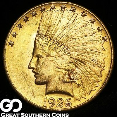 1926 Eagle, $10 Gold Indian, Choice BU++, Lustrous ** Free Shipping!