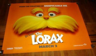 DR SEUSS THE LORAX 5FT subway MOVIE POSTER 2012
