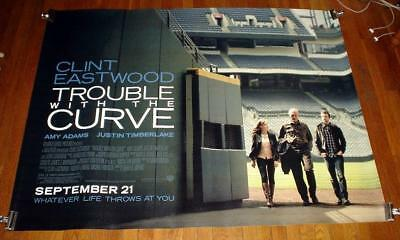 Trouble with the Curve SUBWAY MOVIE POSTER 2012 Justin Timberlake Clint Eastwood