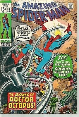 AMAZING SPIDER-MAN # 89    Beautiful Early Silver Age  Solid FN/VF7.0