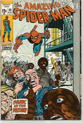 AMAZING SPIDER-MAN # 99    Beautiful Early Silver Age - FN/VF7.0