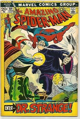 AMAZING SPIDER-MAN #109    Beautiful Early Silver Age Nice VF7.5