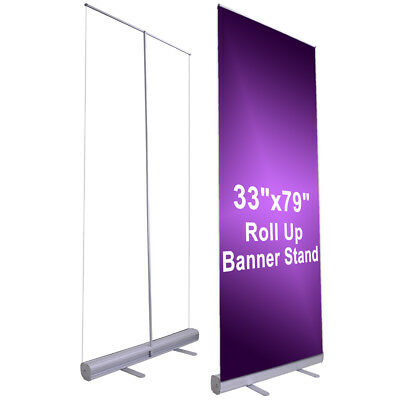"""10pcs 33""""x79"""" Retractable Roll Up Banner Stand Wedding Trade Show Sign Display"""