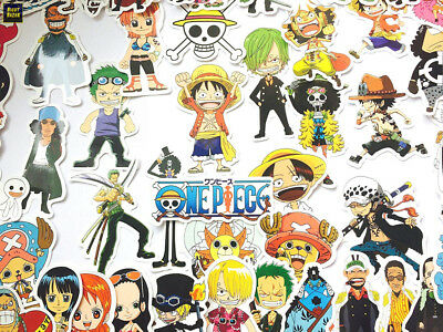 shopiseller Stickers One Piece Autocollant du Manga (46 Pieces)