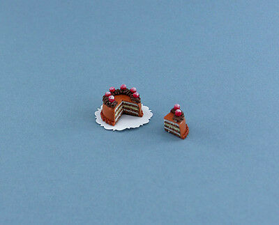 Fabulous Dollhouse Miniature Bakery Cake with Cut Out Slice #SLCS007