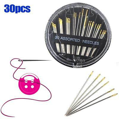 30pcs Assorted Craft Quilt Sew Case Hand Sewing Needles Embroidery Mending Tool