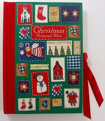 Christmas Pactchwork Hard covered Die Cut Photo Album-Great Christmas Gift