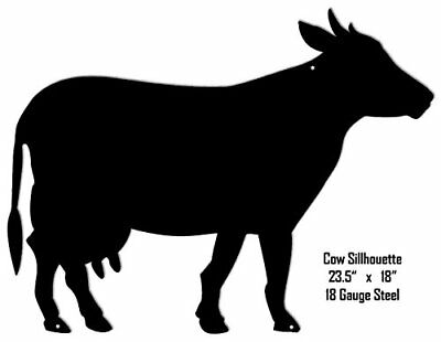 Cow Silhouette Laser Cut Out Metal Sign 18x24