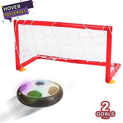 Hover Ball Air Power Soccer Disk Ball Football Goal Set with 2 Gates for Kid Toy