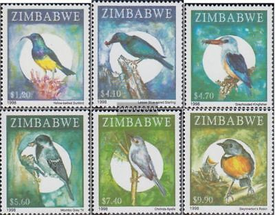 zimbabwe 625-630 (complete issue) unmounted mint / never hinged 1998 Locals Bird
