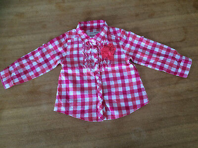 Tolle Bluse Gr. 68/74 von Fashion Industrie Baby Girl. Rosa Pink Karos. Top