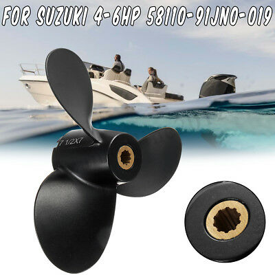 7 1/2 x 7 Marine Boat Propeller For Suzuki Outboard Engine 4-6HP 58110-91JN0-019