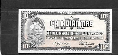 Canada Canadian 1974 10 Cent Vf Used Tire Money Currency Banknote  Note