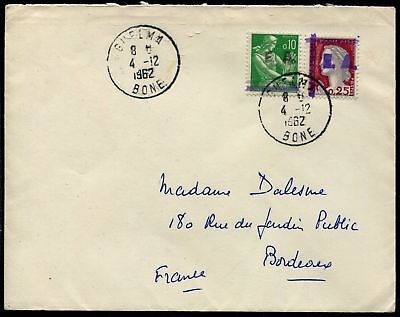 """Pack N°7133 State Algerian Affrt compound with Obl Cad """"""""GUELMA 4/12/62"""""""""""