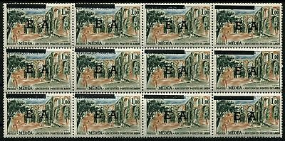 Pack N°7072 State Algerian N°363 Panel of 12 Overload Typo New LUXE