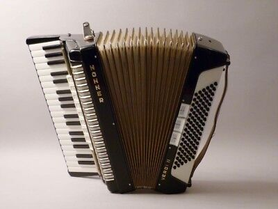 vintage HOHNER AKKORDEON  Verdi II  accordion black                      (mo)