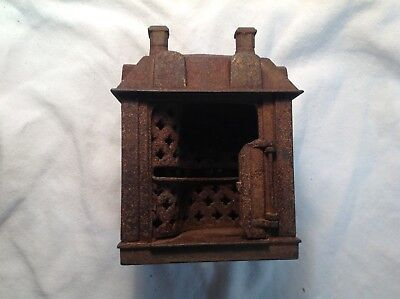 Antique 1900s Colonial House--Cast Iron Still Coin Bank-Repair-Parts