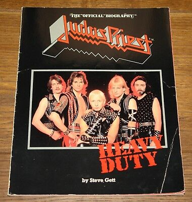 Judas Priest Heavy Duty The Official Biography By Steve Gett Usa Book 1984