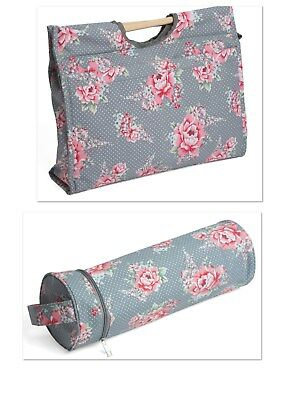 Knitting / Sewing Bag With Matching Vinyl Wool holder in Beautiful Bloom Design.