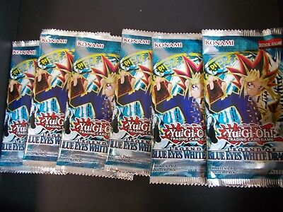 6x BOOSTER LEGEND OF BLUE EYES WHITE DRAGON YU GI OH DEUTSCH!!! ovp unsearched!