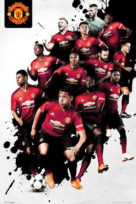 Manchester United Players 2018 - 19 Season Poster New - Maxi Size 36 x 24 Inch