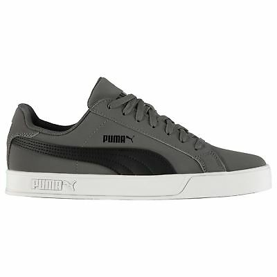 Details zu PUMA Mens Smash Vulc Leather Trainers Shoes 359622 09 Black White