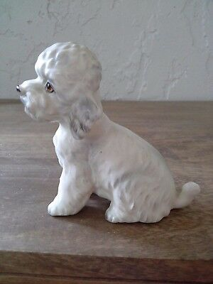 Vintage Napco Japan Porcelain Ceramic Pottery Darling Poodle Dog Figurine